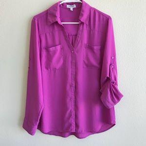 Express Portofino Pink Blouse Size Large